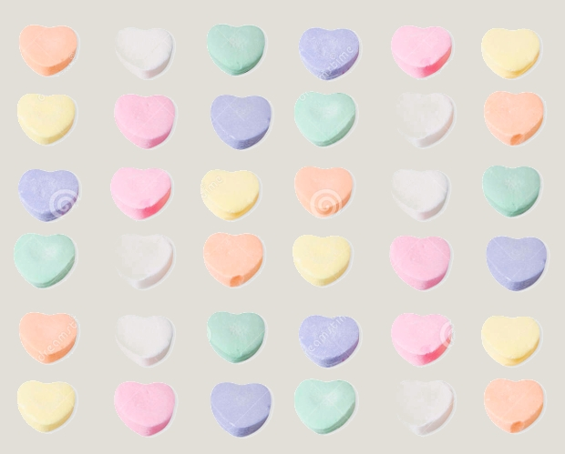 Blank Candy Heart Clipart