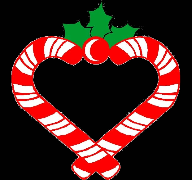 Candy Cane Heart Clipart
