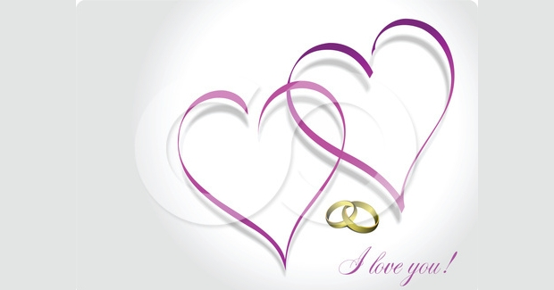 Double Heart Wedding Clipart