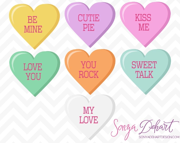 Valentine Candy Heart Clipart