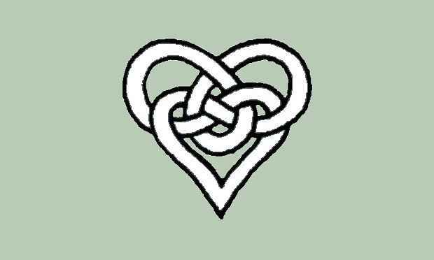 Celtic Tribal Heart Clipart