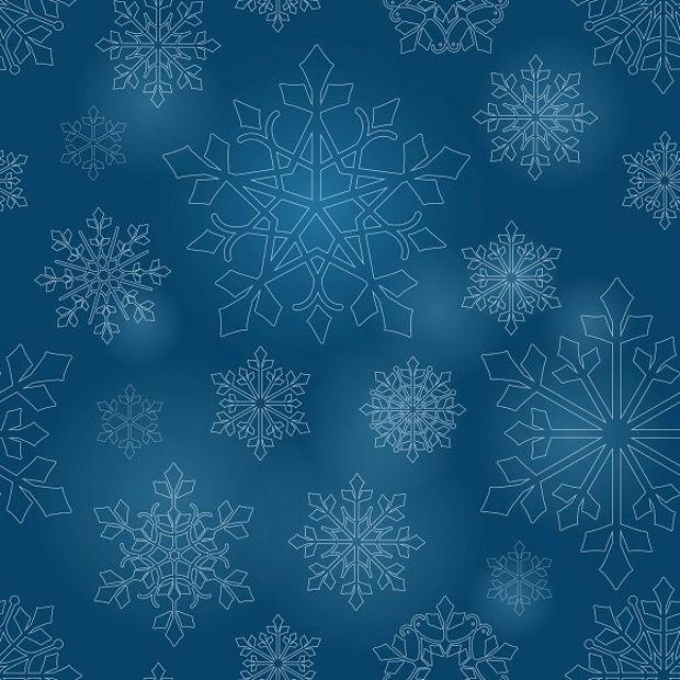 blue seamless snow flake pattern