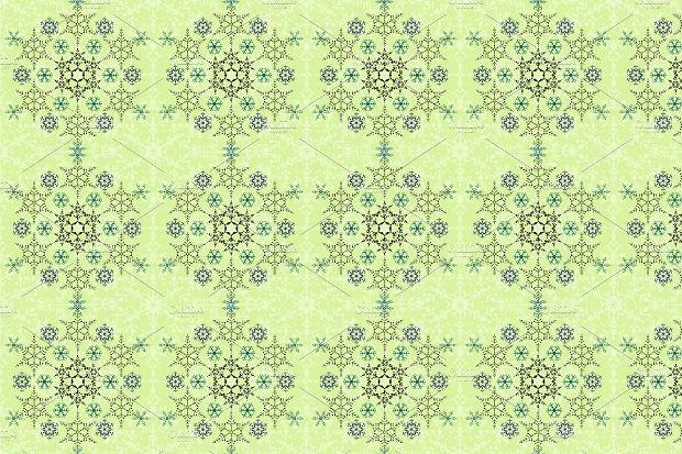 seamless snowflake tile pattern