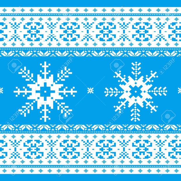 traditional snowflake pattern