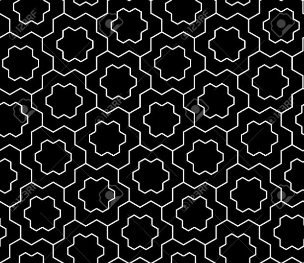 modern geometric snowflake pattern