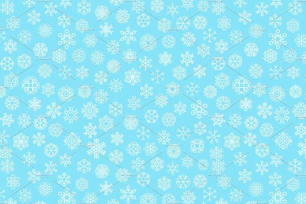 christmas holiday snowflake pattern