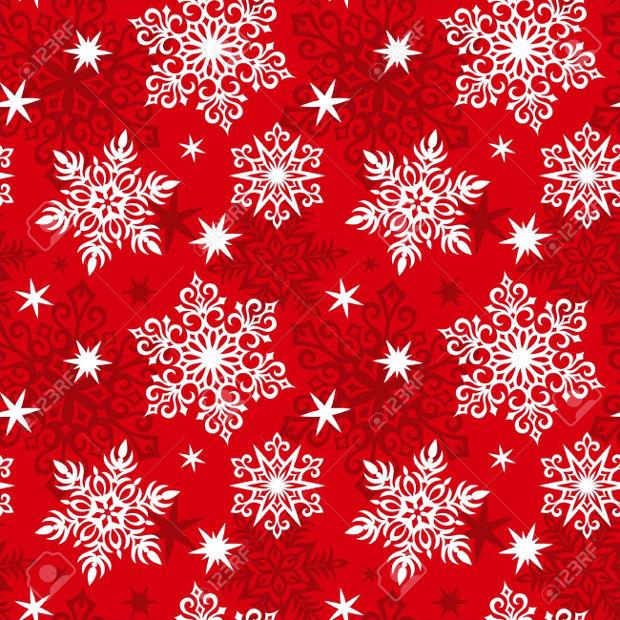 red christmas snowflake pattern