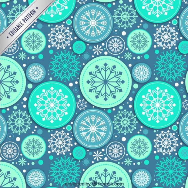 blue abstract snowflake patttern