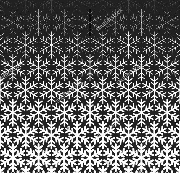 abstract snowflake repeating pattern
