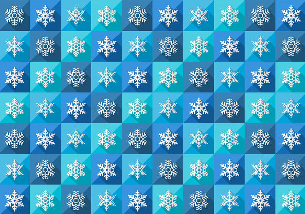 seamless winter vector snowflake pattern