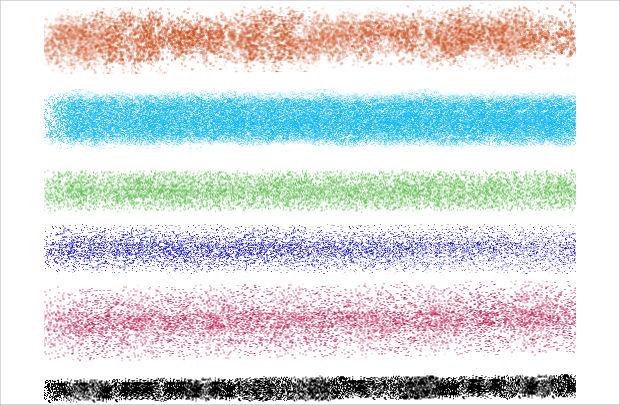 glitter spray paint brushes