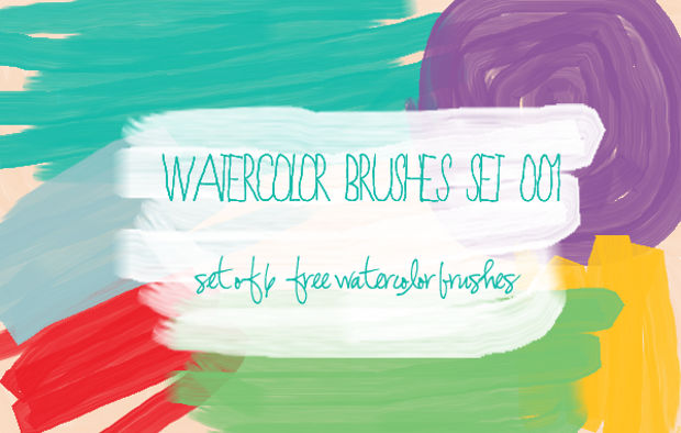 watercolor paint stroke brushes