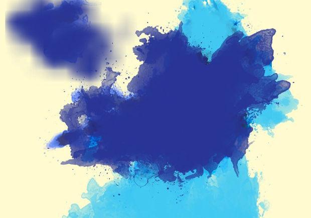 large watercolor paint splatter brushes