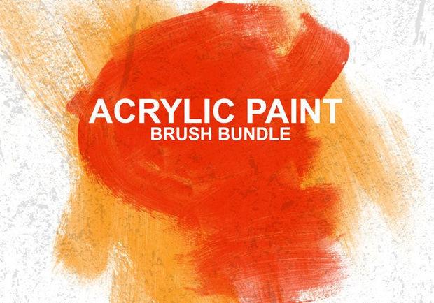 acrylic paint photoshop brushes