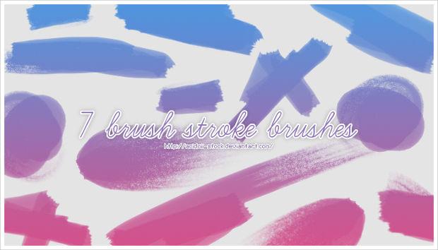 glitter paint stroke brushes