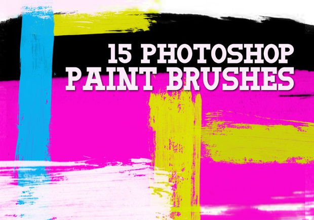 high resolution paint stroke brushes