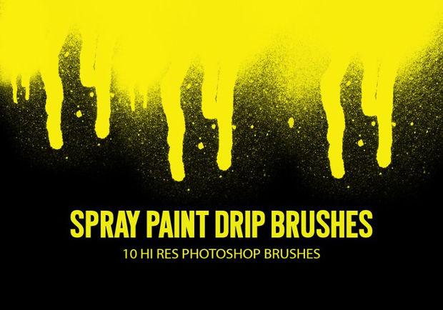 spray paint drip brushes