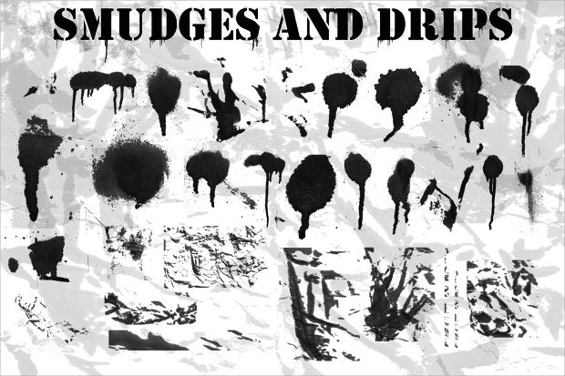 paint smudge drip brushes
