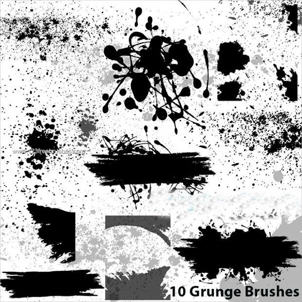 grunge paint splatter brushes