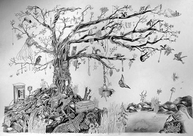 Hand Drawn Tree of Life Drawing