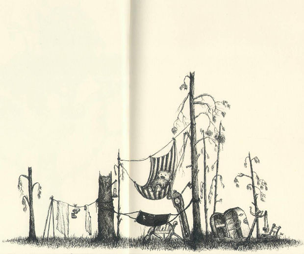 Funny Cartoon Tree Drawing