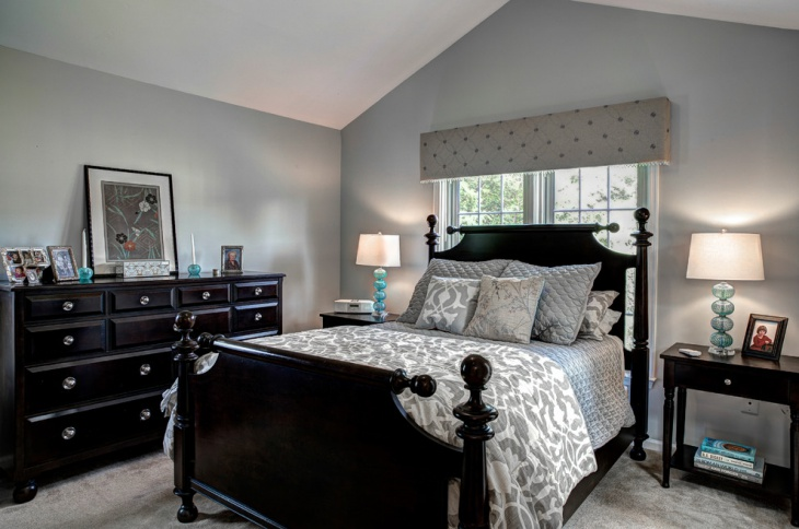 Guest Bedroom Idea with Black Furniture