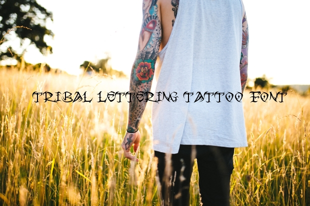 Tribal Lettering Tattoo Font