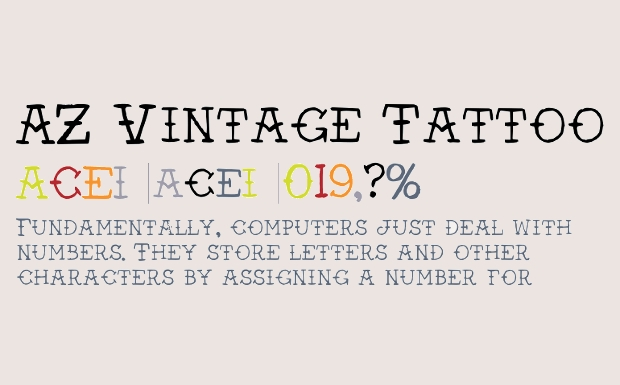 Vintage Tattoo Fonts