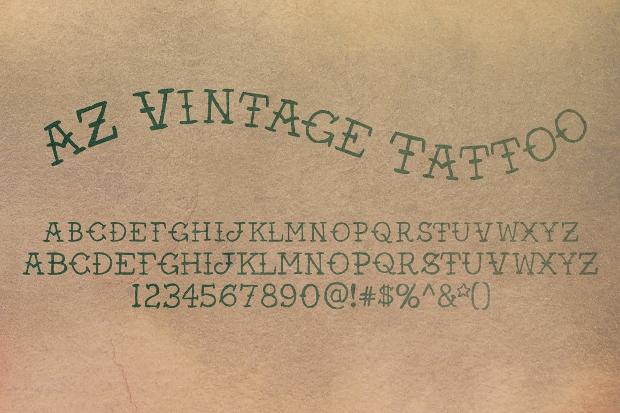AZ Vintage Tattoo Font