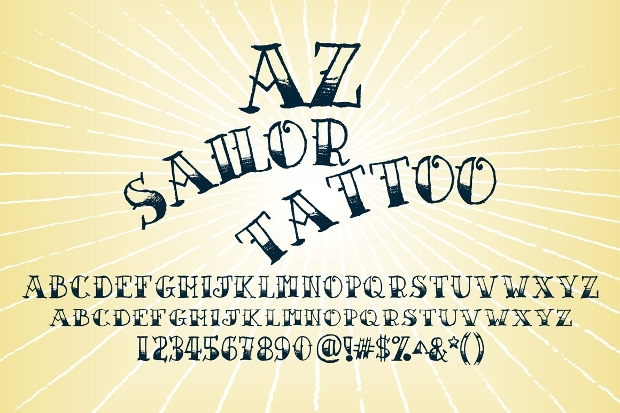 Sailor Tattoo Lettering Font