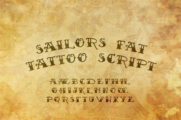 Sailor Script Tattoo Font