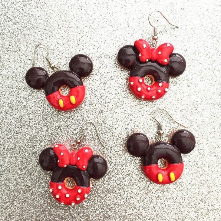 mickey swirl earrings
