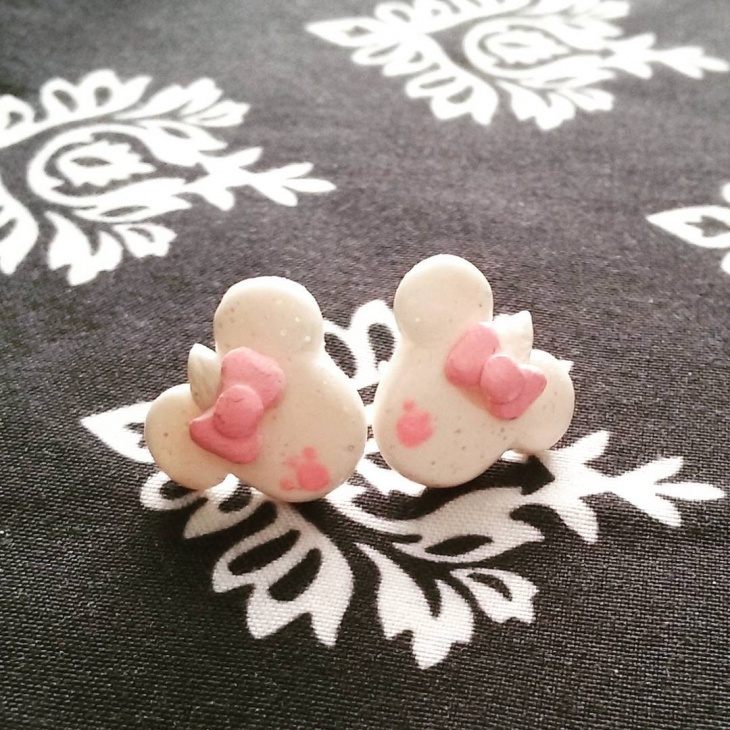 cute light pink studs