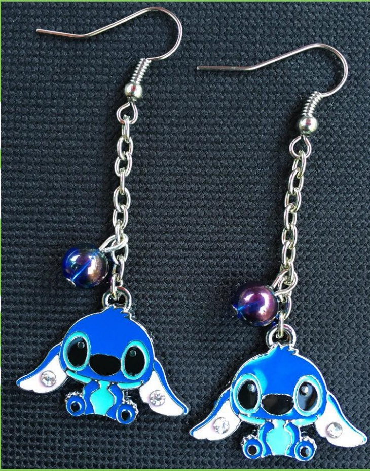 handcrafted disney earrings
