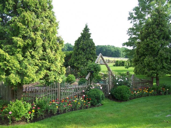 outdoor garden fencing design