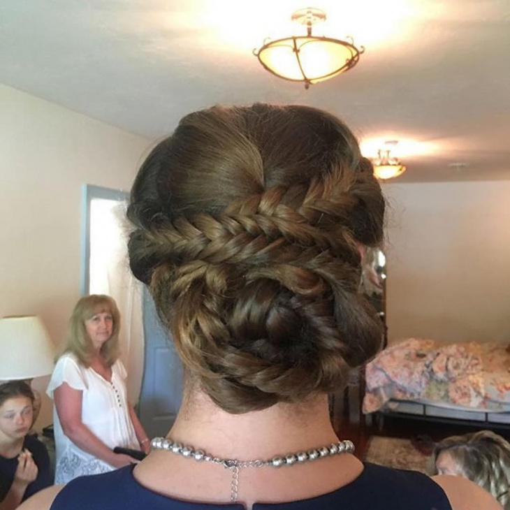 Christmas Low Updo Hairstyles