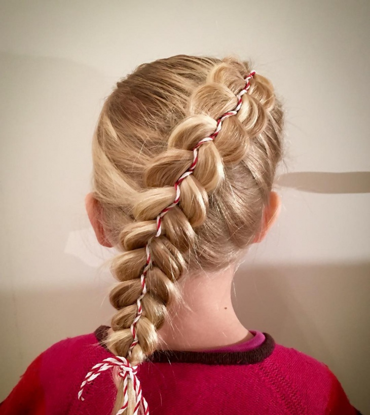 Christmas Twisted Braided Hairstyle