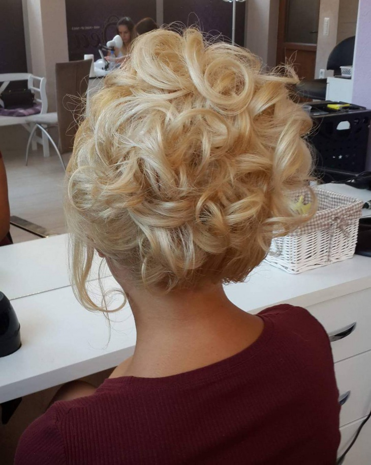 Medium Curly Christmas Hairstyle