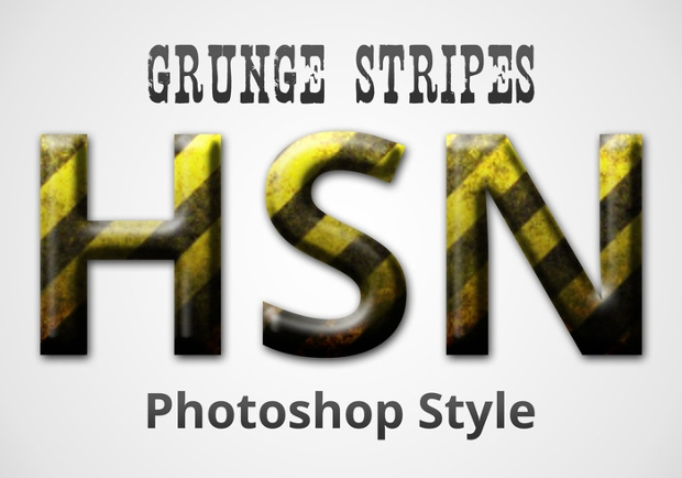 photoshop grunge stripes style