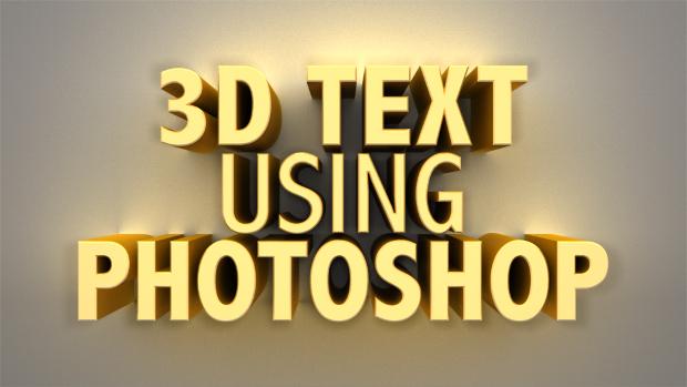 Modern 3D Photoshop Text Style