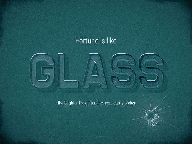 3d photoshop glass text style