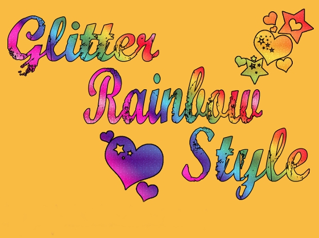 glitter photoshop rainbow style