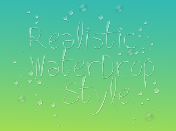 photoshop water drop style