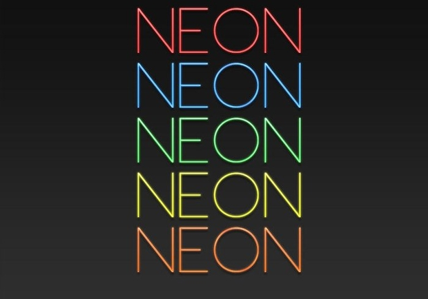 neon photoshop layer style