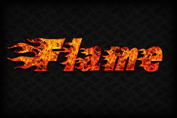 fire text effect photoshop style