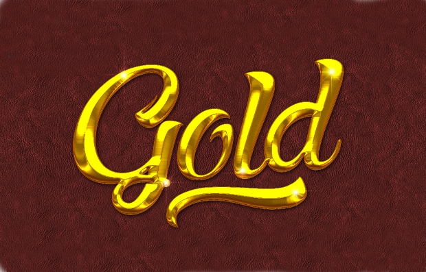 free photoshop golden layer style