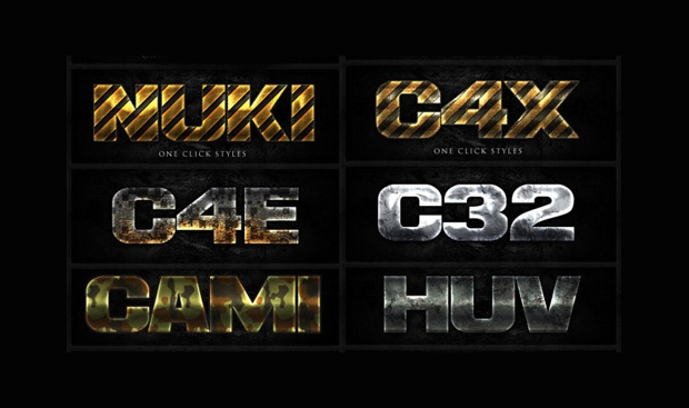 game text effect photoshop style