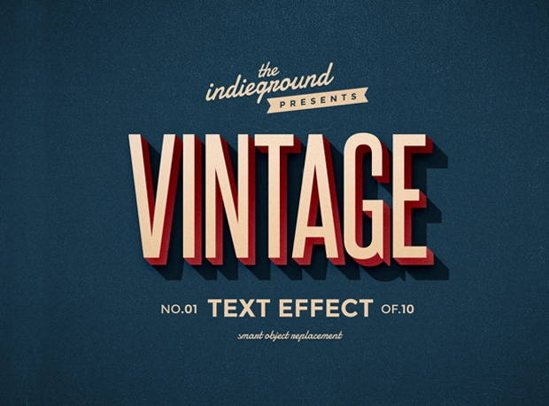 vintage photoshop text effect style