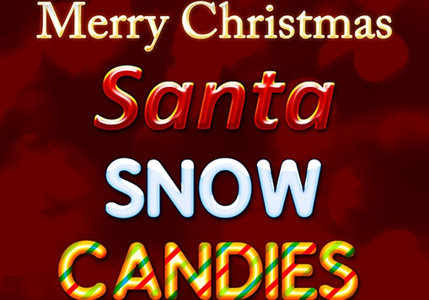christmass photoshop text style