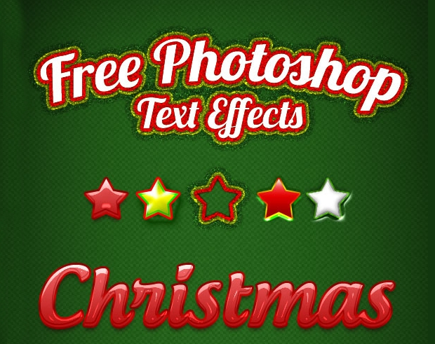 free christmas photoshop style
